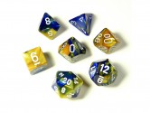 Gemini Blue/Gold 7-piece Dice Set