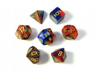 Gemini Red/Blue Polyhedral Dice
