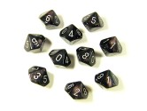Borealis Smoke/Silver Dice Set