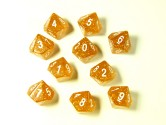 Glitter Yellow/White 10d10 Dice Set