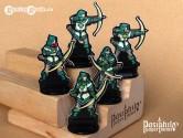Greenhold Archers 28mm RPG Miniatures (Black Trim)