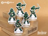 Greenhold Archers 28mm 2D Fantasy Role-playing Game Miniatures