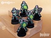 Greenhold Infantry 28mm RPG Miniatures (Black Trim)