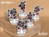 Red Clan Orc Skirmishers 28mm 2D Fantasy Role-playing Game Miniatures
