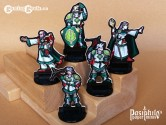 Greenhold Command 28mm RPG Miniatures (Black Trim)
