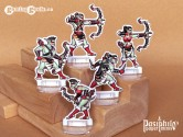 Red Clan Orc Hunters 28mm 2D Fantasy Role-playing Game Miniatures