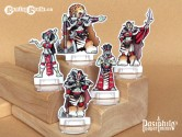 Red Clan Orc Leadership 28mm 2D Fantasy Role-playing Game Miniatures
