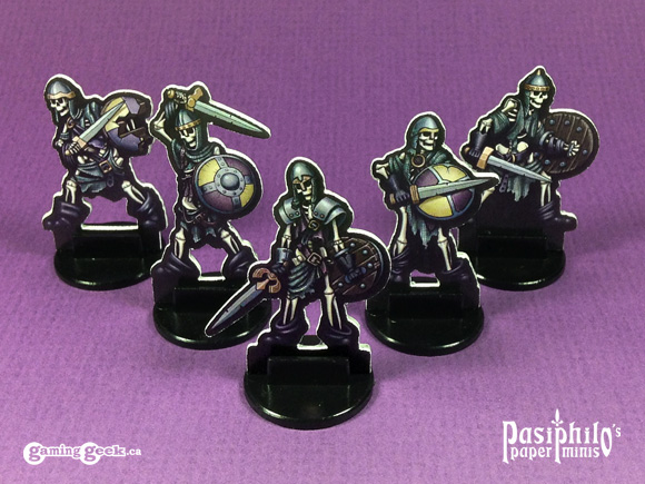 Undead Skeletons 28mm Paper Miniatures - White Trim