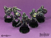Undead Skeletons (Black Trim) 28mm 2D Role-playing Game Miniatures