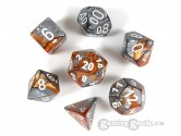 Gemini Copper/Steel Polyhedral Dice 7-piece Polyhedral Dice Set