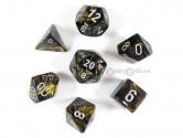 Leaf Black Gold Polyhedral Dice
