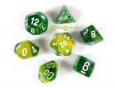 Phantom Green Polyhedral Dice 7-piece Polyhedral Dice Set