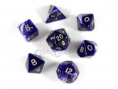 Purple Marble Polyhedral Dice