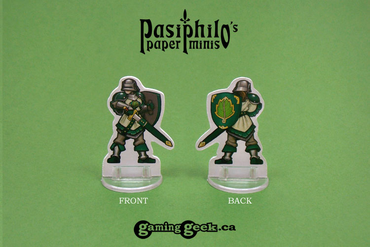 Greenhold Infantry 28mm RPG Miniatures (Front & Back example)