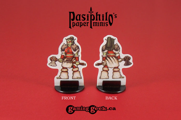 Red Clan Orc Skirmishers 28mm RPG Miniatures (Front & Back example)