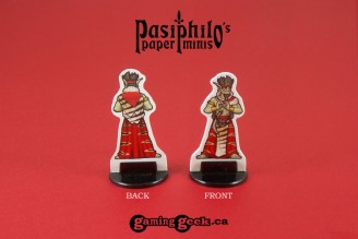 Red Clan Orc Leadership 28mm RPG Miniatures (Front & Back example)