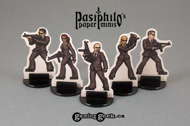 Secret Service Agents 28mm 2D Role-playing Game Miniatures