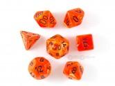 Vortex Orange Polyhedral Dice 7-piece Polyhedral Dice Set