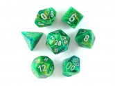 Lustrous Green Polyhedral Dice 7-piece Polyhedral Dice Set