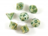 Marble Green/Dark Green Polyhedral Dice 7-piece Polyhedral Dice Set