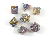 Festive Carousel Polyhedral Dice 7-piece Polyhedral Dice Set
