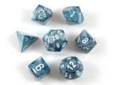 Lustrous Slate Polyhedral Dice 7-piece Polyhedral Dice Set