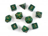 Golden Recon Polyhedral Dice 10-piece Polyhedral Dice Set