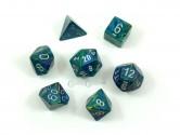 CHX27445 Festive Green Polyhedral Dice