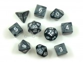 Pearl Charcoal Polyhedral Dice 10-piece Polyhedral Dice Set