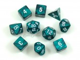Pearl Emerald Polyhedral Dice 10-piece Polyhedral Dice Set