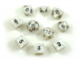 Pearl Gray Polyhedral Dice 10-piece Polyhedral Dice Set