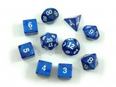 Pearl Navy Polyhedral Dice 10-piece Polyhedral Dice Set