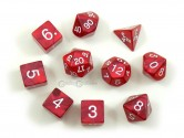 Pearl Red Polyhedral Dice 10-piece Polyhedral Dice Set