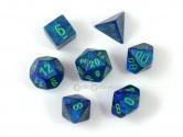 Lustrous Dark Blue Polyhedral Dice 7-piece Polyhedral Dice Set