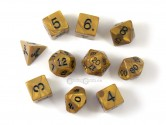 Olympic Gold Polyhedral Dice 10-piece Polyhedral Dice Set