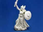 Aina, Female Valkyrie 28mm Scale Polymer Fantasy Role-playing Game Miniature