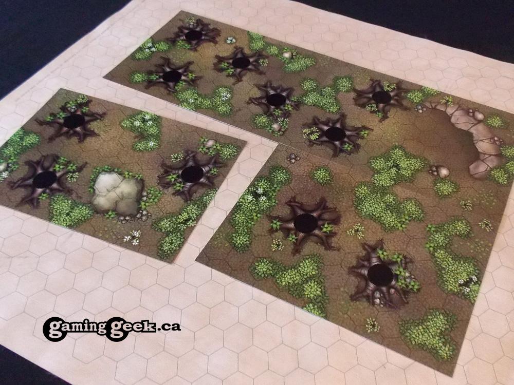 Forest Hex Grid Terrain Tiles Set #2 | Gaming Geek Shop