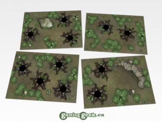 Forest Hex Grid Terrain Tiles Set #2