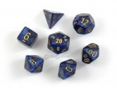 Scarab Royal Blue Polyhedral Dice 7-piece Polyhedral Dice Set