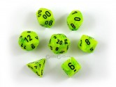 CHX27430 Vortex Bright Green w/ Black Polyhedral Dice