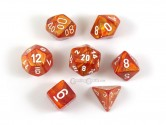 Lustrous Bronze Polyhedral Dice 7-piece Polyhedral Dice Set