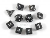 KOP10024 Glitter Black Polyhedral Dice Set