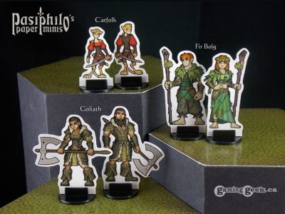 PPM1022 Catfolk, Firbolg and Goliath Gender-variant miniatures