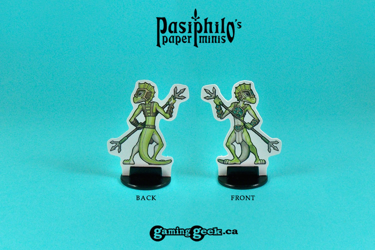 PPM1008W Lizardfolk Spearmen front and back