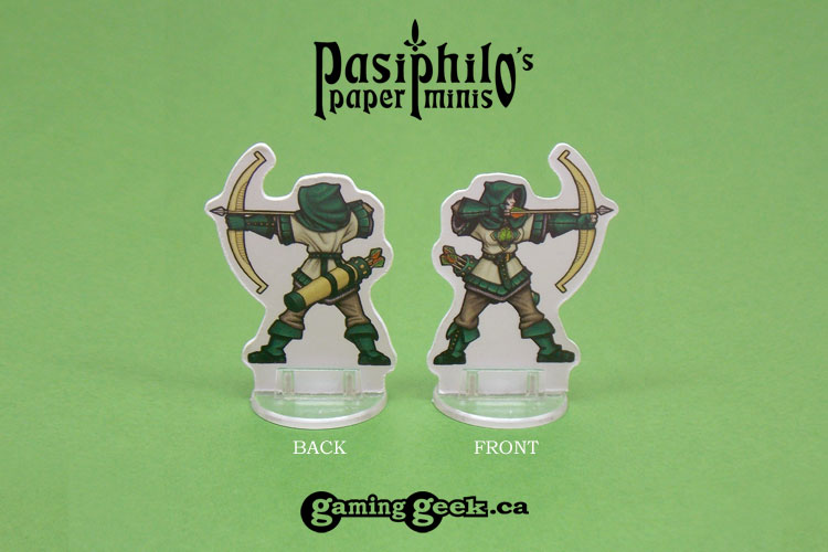 Greenhold Archers 28mm RPG Miniatures - Front and Back Example