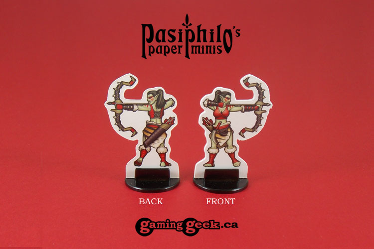 Red Clan Orc Hunters 28mm RPG Miniatures (Front & Back example)