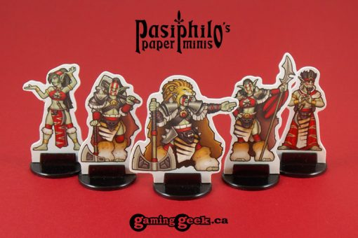 Red Clan Orc Leadership 28mm RPG Miniatures