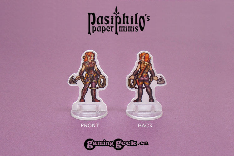 Rogues 28mm 2D Roleplaying Game Miniatures - Front and Back Example