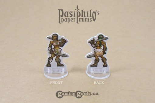 Barbarians 28mm 2D Role-playing Game Miniatures - Front and Back Example