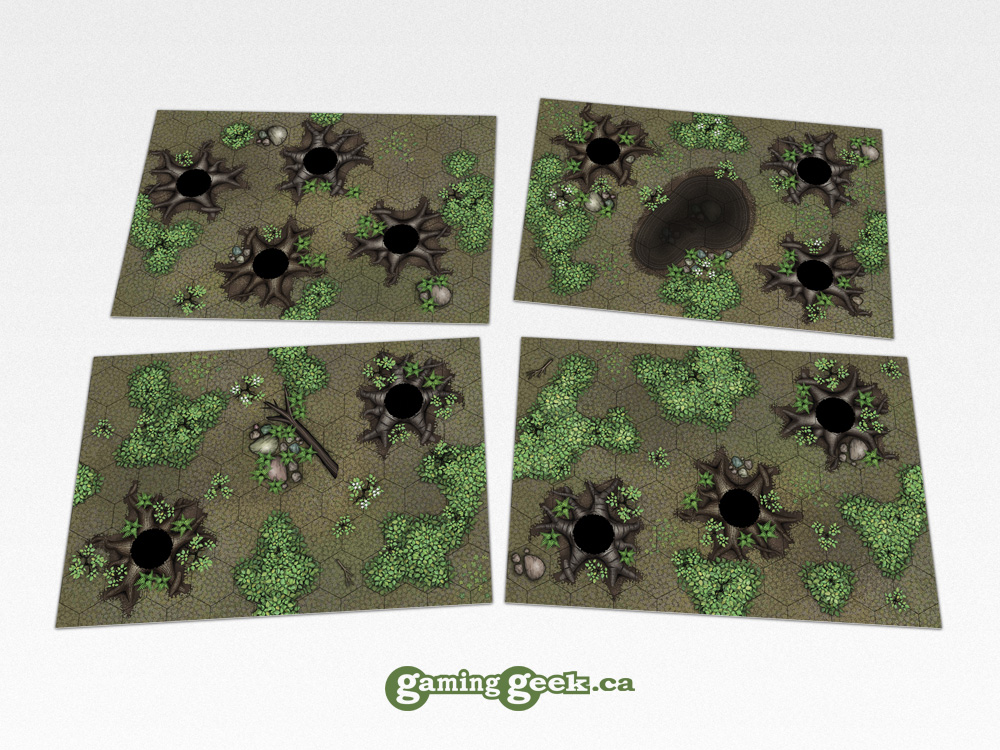 Forest Hex Grid Terrain Tiles Set #1